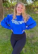 Chicago Womens Coopeer Hippie Font Crew Sweatshirt - Blue