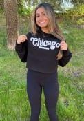 Chicago Womens Coopeer Hippie Font Crew Sweatshirt - Black