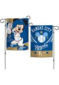 Kansas City Royals Mickey Mouse 12x18 2 Sided Garden Flag