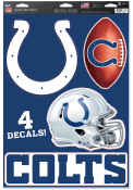 Indianapolis Colts 11x17 4 Pack Auto Decal - Navy Blue