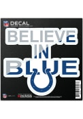 Indianapolis Colts 6x6 Repositionable Expression Logo Auto Decal - Navy Blue