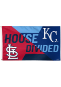 Kansas City Royals House Divided 3x5 ft Blue Silk Screen Grommet Flag