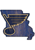 St Louis Blues state shape Sign