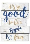 Kansas City Royals birch Sign