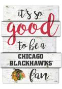 Chicago Blackhawks birch Sign