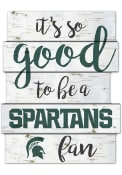 Michigan State Spartans birch Sign