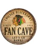Chicago Blackhawks round fan cave Sign