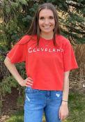 Cleveland Womens Rally Cheetah T-Shirt - Red