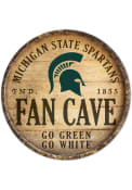 Michigan State Spartans round fan cave Sign