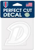 Drake Bulldogs Perfect Cut 4x4 White Auto Decal - Blue