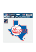 Texas Rangers 5x6 State of Texas Auto Decal - Blue