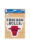 Chicago Bulls Team Logo Car Magnet - Red