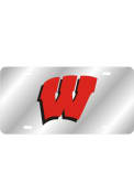 Wisconsin Badgers Team Logo Inlaid Car Accessory License Plate