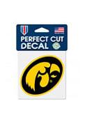 Iowa Hawkeyes Perfect Cut Auto Decal - Yellow