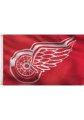 Detroit Red Wings 3x5 Red Grommet Red Silk Screen Grommet Flag