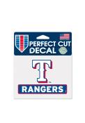 Texas Rangers Team Name Auto Decal - Blue