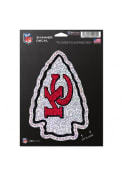 Kansas City Chiefs 5x7 Shimmer Auto Decal - Red