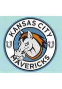 Kansas City Mavericks 4x4 Auto Decal - Blue