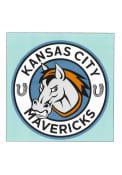 Kansas City Mavericks 8x8 Auto Decal - Blue