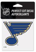 St Louis Blues 4x4 Die Cut Auto Decal - Blue