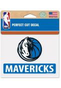 Dallas Mavericks Perfect Cut Auto Decal - Blue