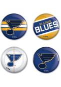 St Louis Blues 4 Pack 1.25 Inch Button