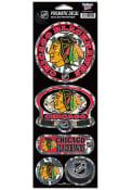 Chicago Blackhawks 4x11 Prismatic Stickers