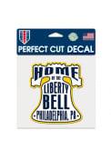 Philadelphia 6x6 inch Bell Auto Decal - White