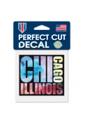 Chicago 4x4 inch Paint Graphic Auto Decal - Blue
