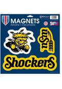 Wichita State Shockers 11 x 11 3pk Magnet