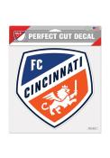 FC Cincinnati 8x8 inch Perfect Cut Auto Decal - White