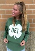 Detroit Green Shamrock Initials Long Sleeve T Shirt