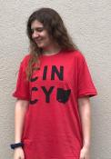 Cincinnati Red Cincy Home Short Sleeve T Shirt