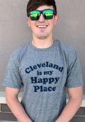 Cleveland Grey Happy Place Short Sleeve T Shirt