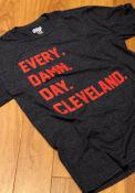 Cleveland Navy Every Damn Day Short Sleeve T Shirt