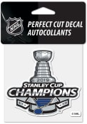 St Louis Blues 2019 Stanley Cup Champs 4x4 inch Perfect Cut Auto Decal - Blue