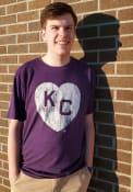Kansas City Monarchs Rally Heart Kansas City Fashion T Shirt - Purple