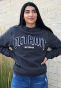 Detroit Wordmark Crew Sweatshirt - Navy Blue