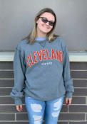 Cleveland Wordmark Crew Sweatshirt - Black