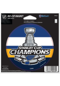 St Louis Blues 2019 Stanley Cup Champs 4 Inch Round Magnet