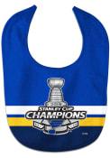 St Louis Blues Baby 2019 Stanley Cup Champs Bib - Blue