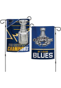 St Louis Blues 2019 Stanley Cup Champs 12x18 inch 2-Sided Garden Flag