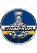 St Louis Blues 2019 Stanley Cup Champs 2.7 Inch Round Car Emblem - Blue