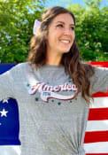 Americana Grey Retro America 1776 Short Sleeve T Shirt