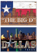 Dallas Ft Worth 2X3 2PK Magnet