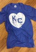 Kansas City Monarchs Rally Heart Kansas City Fashion T Shirt - Blue