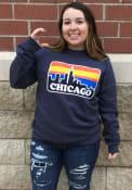 Chicago Skyline Crew Sweatshirt - Navy Blue