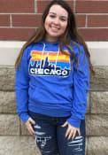Chicago Blue Skyline Long Sleeve T-Shirt Hood