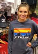 Cleveland Skyline Crew Sweatshirt - Navy Blue