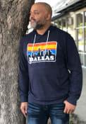Dallas Navy Skyline Long Sleeve T-Shirt Hood